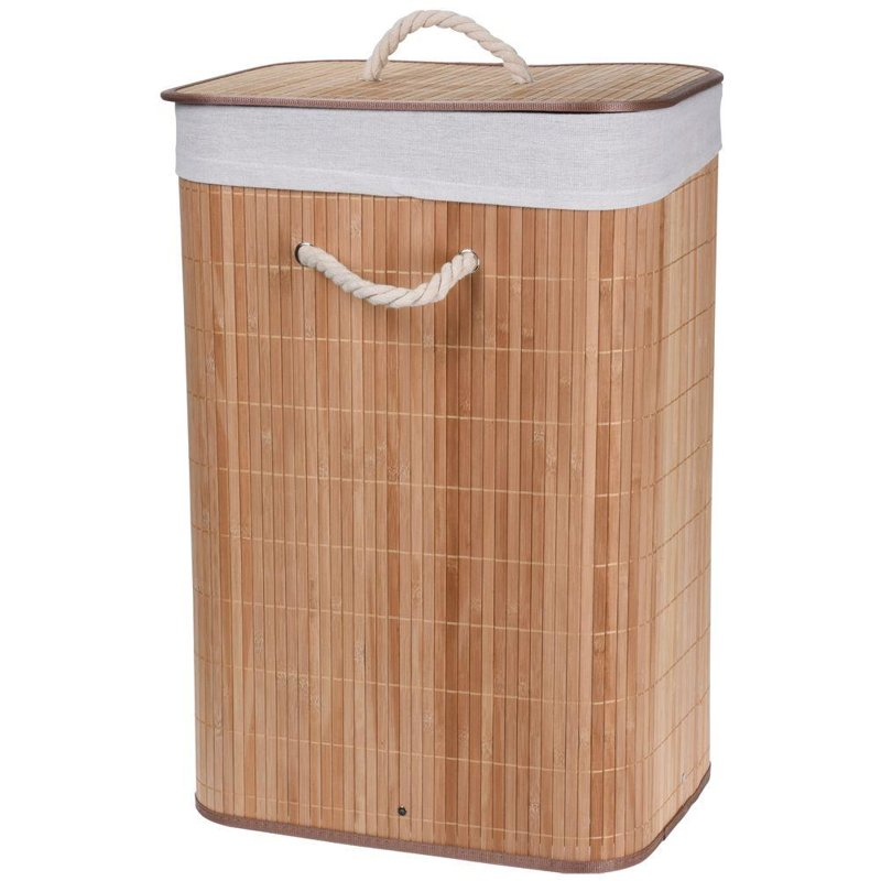ORION Basket bathroom container for laundry underwear BAMBOO foldable 60L