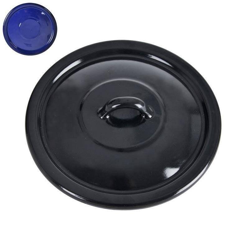 ORION Enamel lid for the pot black 22 cm