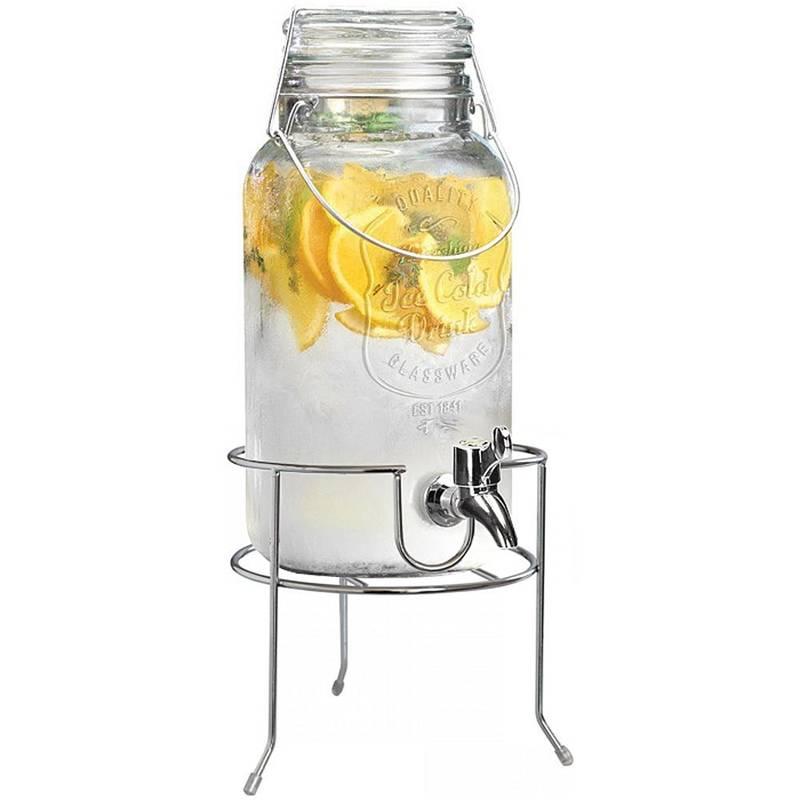 ORION Jar / jar with tap for drinks 4L