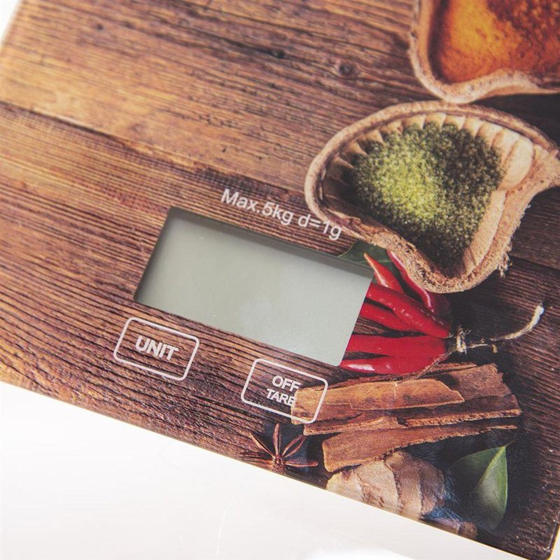 ORION Kitchen electronic scales flat glass 5kg