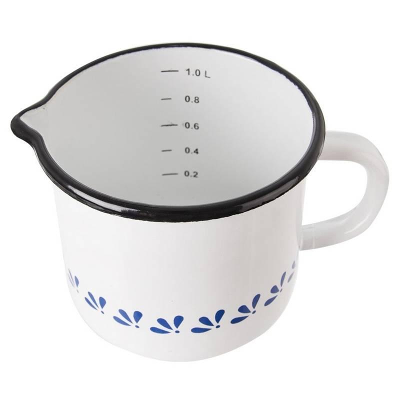 ORION Mug with measure enamel pot retro 12 cm 1,2L
