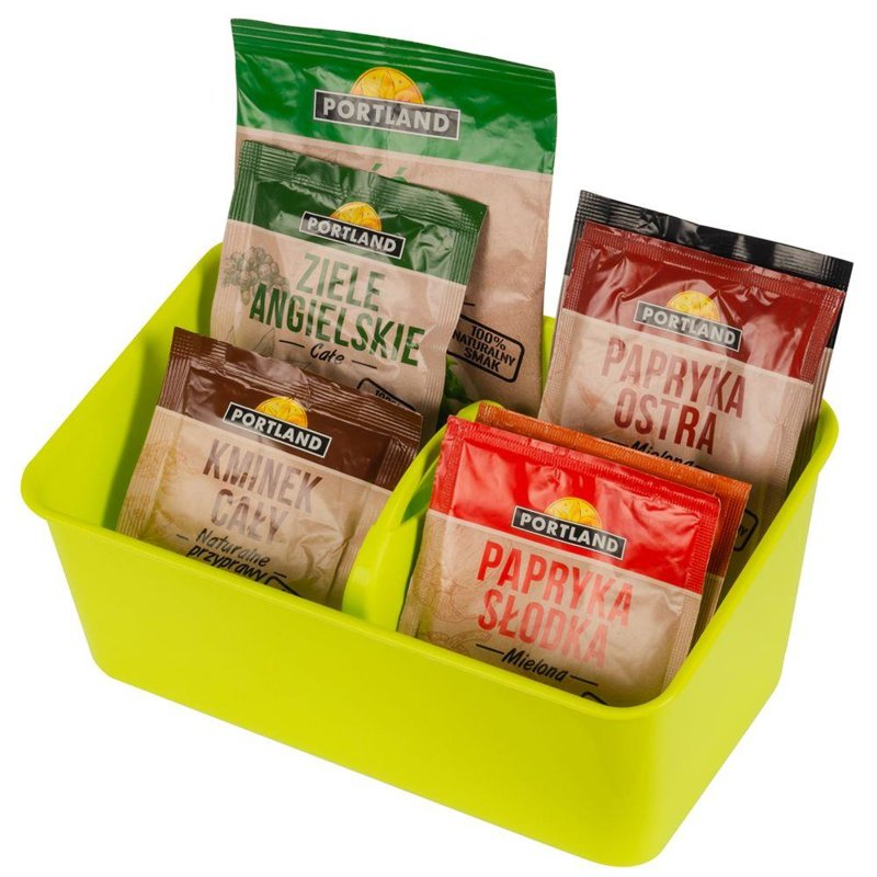 ORION Organiser for SPICES bags container for spices GREEN