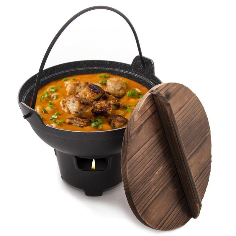 ORION Pot / cauldron for FONDUE cheese, meat, chocolate