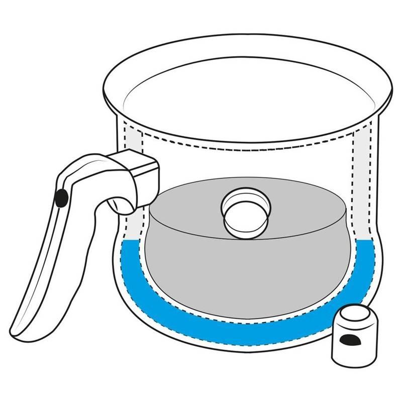 ORION Pot for boiling milk for milk 2,5L steel