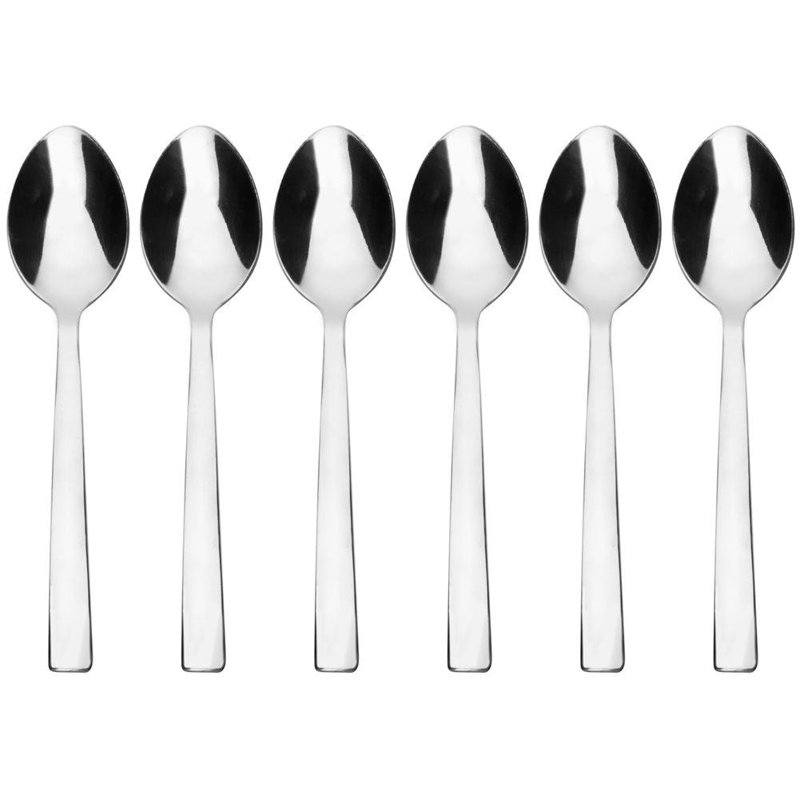 ORION Spoons / teaspoons for tea coffee PLAIN 6 pcs.