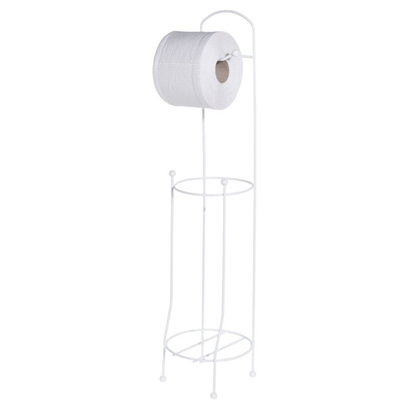 ORION Stand + hanger for toilet PAPER handle metal white