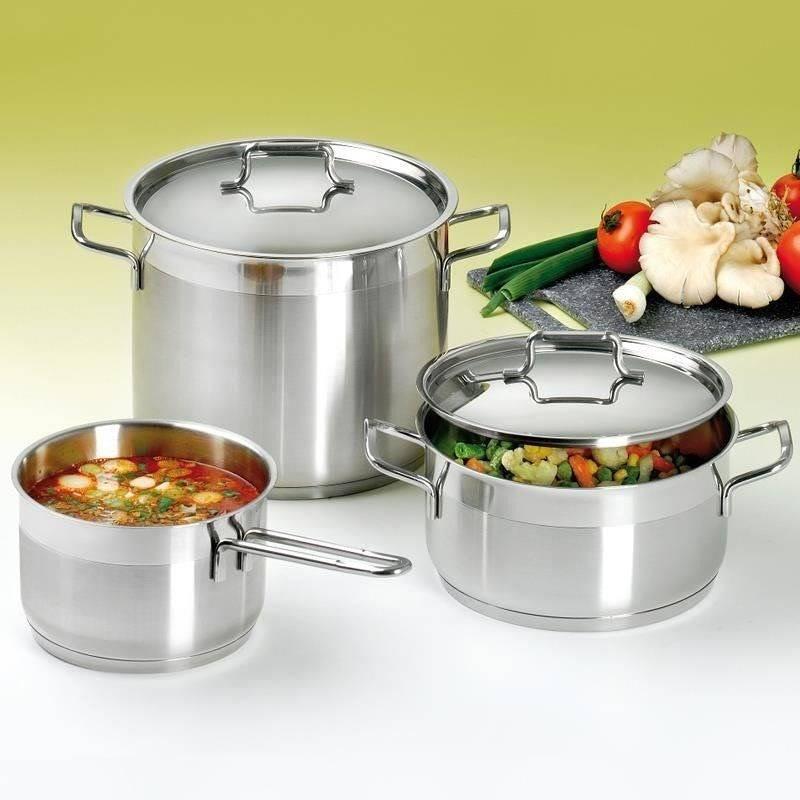 ORION Steel pot with lid 18/10 PREMIUM 10,1L