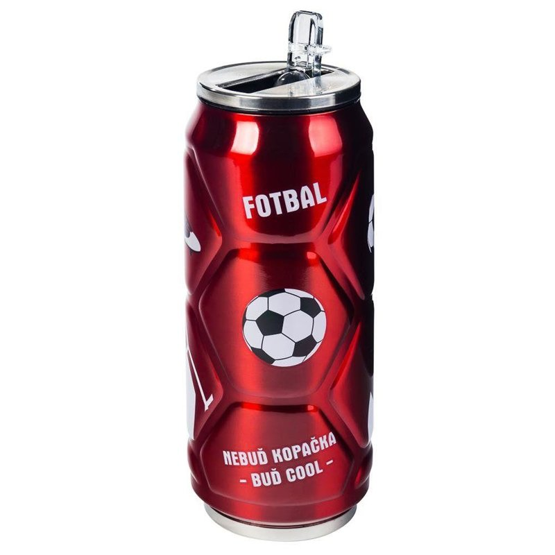 ORION Thermal mug flask CAN BALL red 0,5L