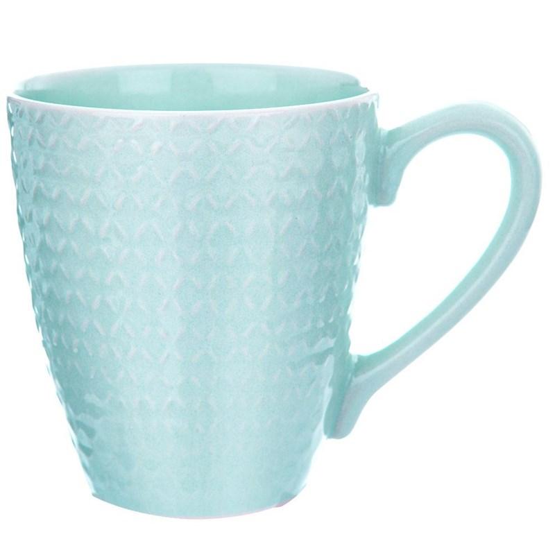 ORION Keramikbecher mit Henkel / Kaffeebecher Teebecher 430 ml GRÜN