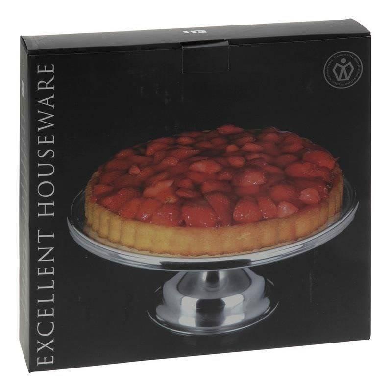 Etagere Tortenplatte Kuchenplatte Tortenständer aus Stahl mit Standfuß