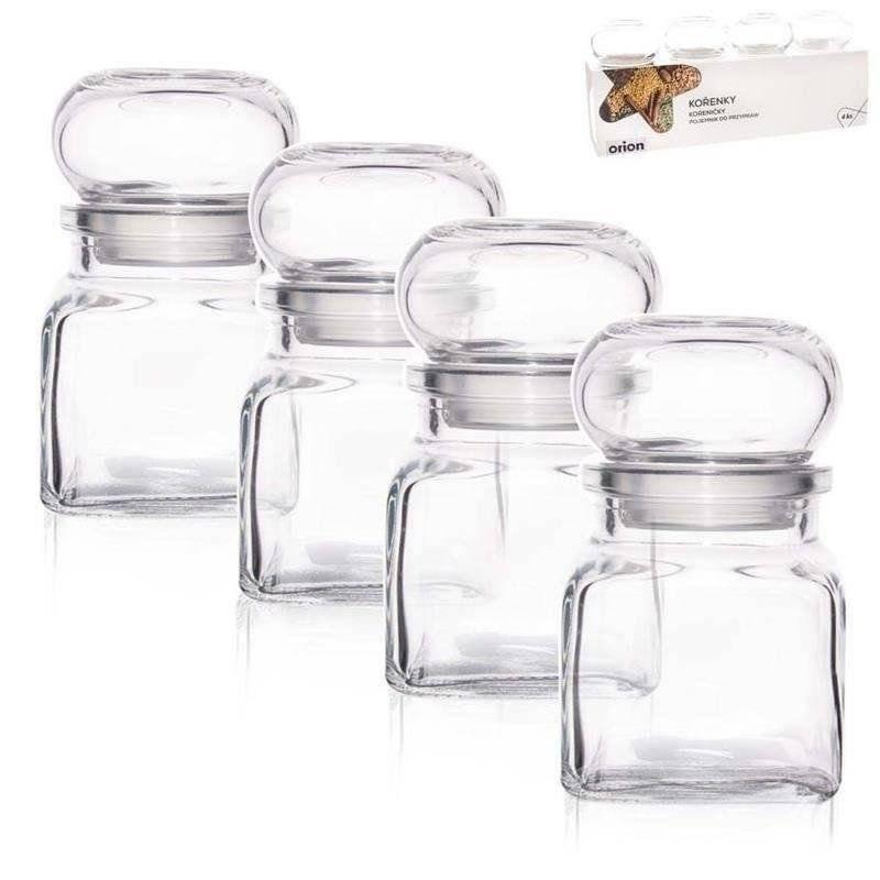 Gewürzbehälter Gewürzglas zur Aufbewahrung von Gewürzen 120 ml 4 Stück