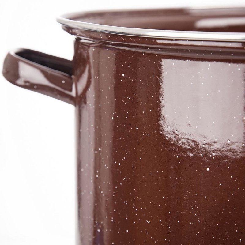 ORION Emaille-Topf / emaillierter Kochtopf für Gastronomielokale groß 36 cm 15l