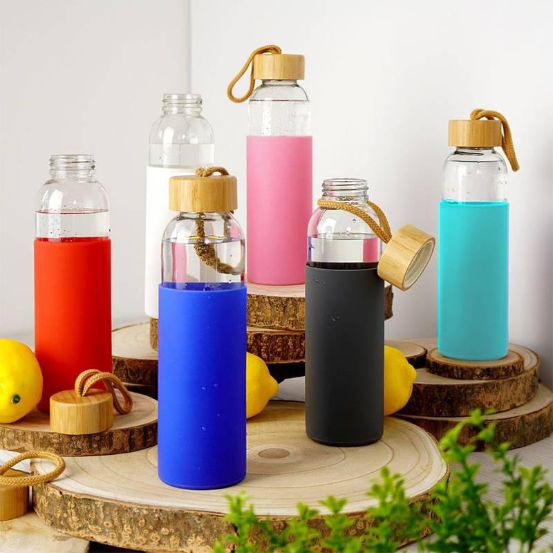 ORION Glasflasche TRINKFLASCHE für Wasser Saft Limonade Smoothie Cocktail 0,5l