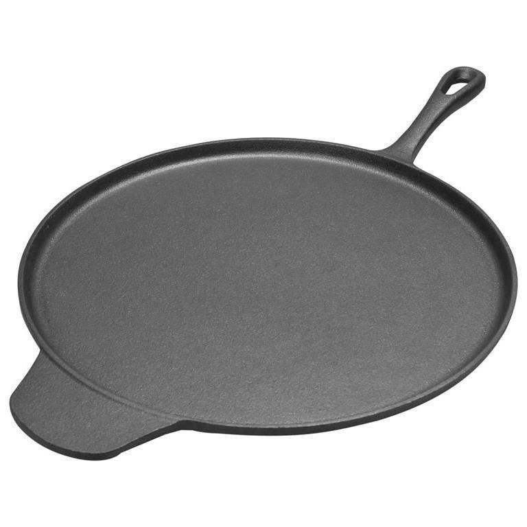 ORION Gusseisenpfanne / Pizzapfanne / Pancakes-Pfanne 30 cm induktionsgeeignet