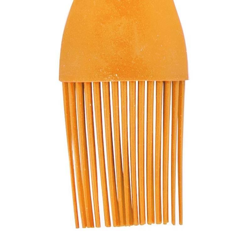 ORION Küchenpinsel SILIKON Backpinsel zum Bestreichen von Fleisch Kuchen 26 cm