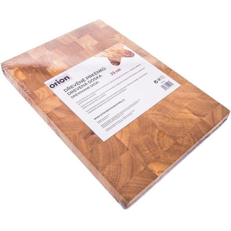 ORION Schneidebrett Servierbrett aus Kautschukholz 35x25x3,5 cm