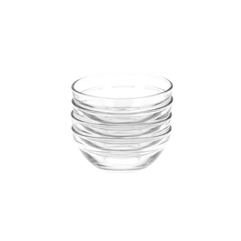 ORION Servierschüssel Salatschüssel Dipschale aus Glas 10,5 cm 190 ml 4 Stück