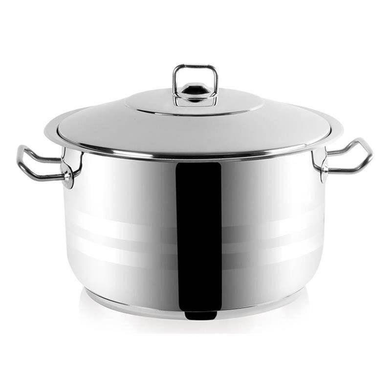 ORION Stahltopf / Kochtopf für Gastronomielokale mit Deckel GASTRO 19,5l