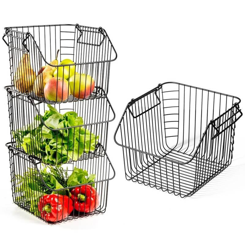 VILDE Obstkorb Gemüsekorb Aufbewahrungskorb Drahtkorb Behälter Vorratsdose 29x27x21 cm, 1 Stk.