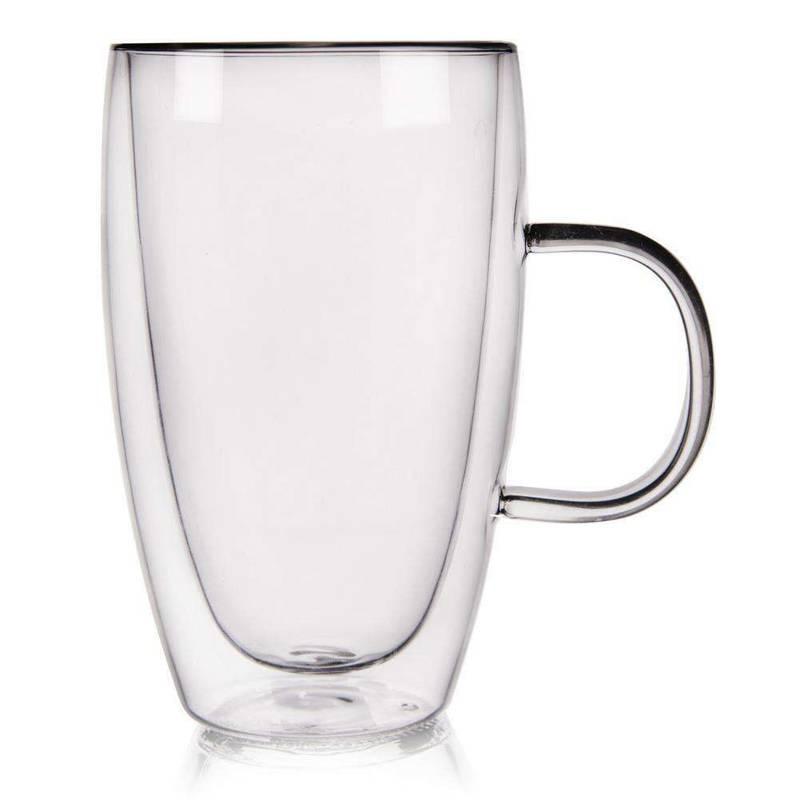 4x szklanka termiczna z podwójną ścianką do kawy, 430 ml