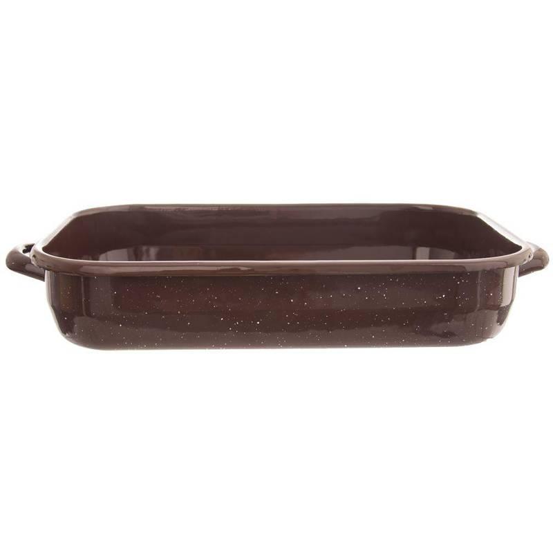 Blacha brytfanna brytfanka emaliowana do pieczenia mięsa ciasta zapiekania 45x25x7 cm 4,4L