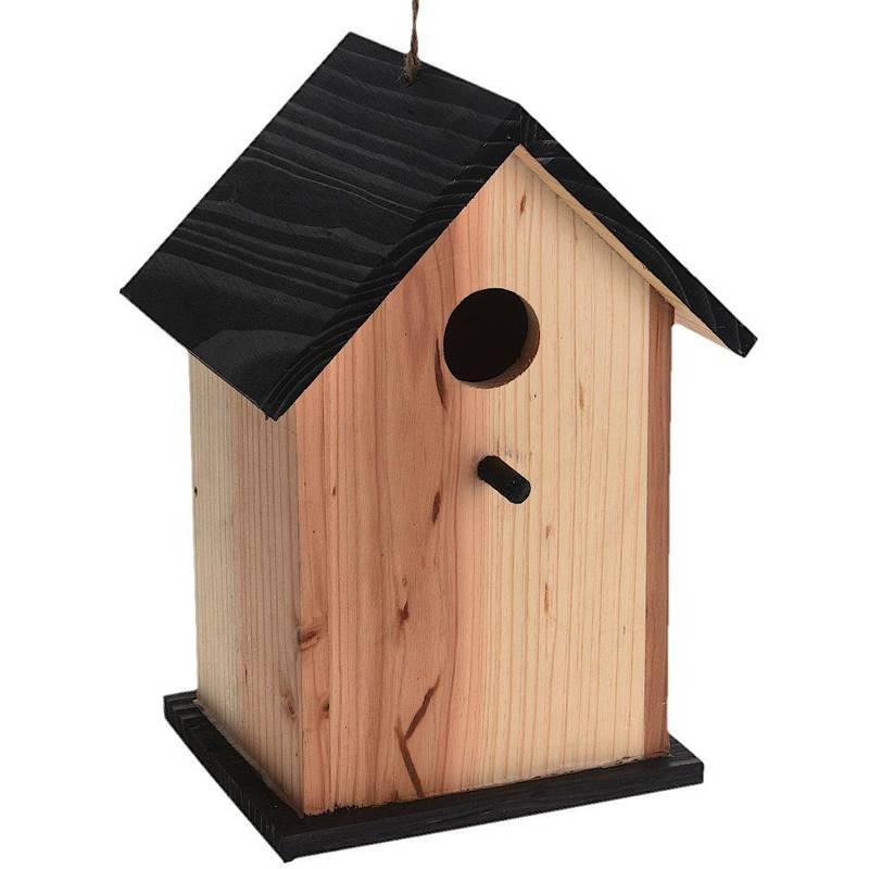 Budka lęgowa dla ptaków, drewniana, ozdobna, domek
