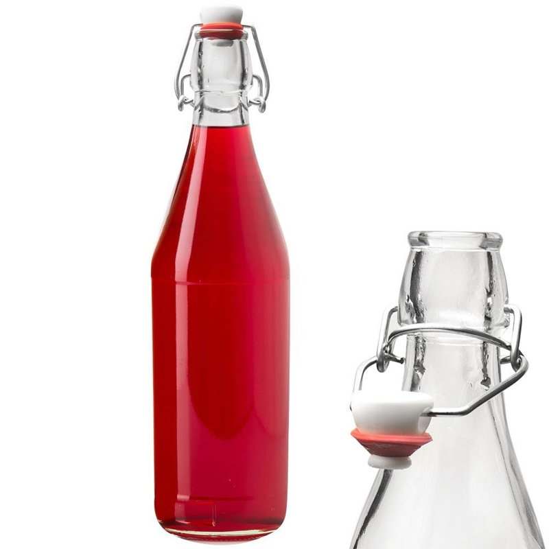 Butelka szklana do nalewek wina śliwowicy 1 l CLIP
