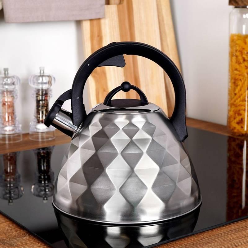 Czajnik stalowy matowy, nowoczesny, automatyczny, 3,4 l