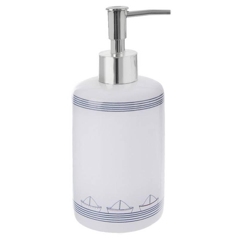 Dozownik do mydła w płynie, płynu do naczyń, żelu, biały, 330 ml