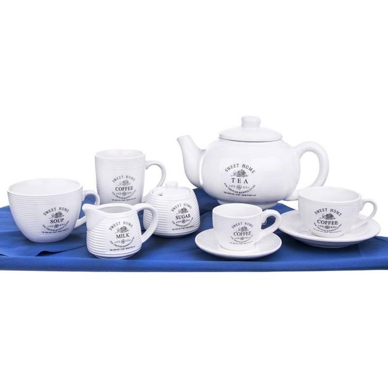 Dzbanek ceramiczny z pokrywką 1,8L SWEET HOME do kawy herbaty
