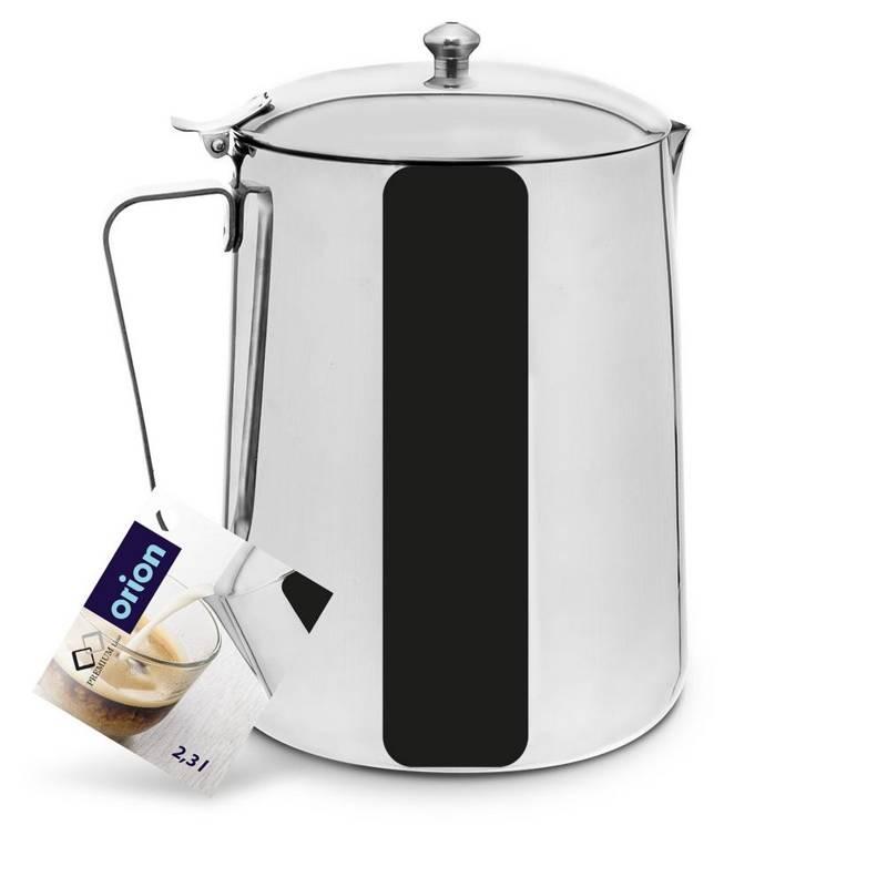 Dzbanek czajnik stalowy z pokrywką 2,3L do kawy herbaty