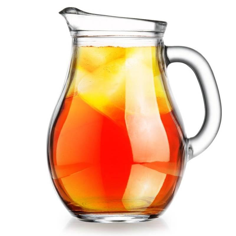 Dzbanek szklany do wody kompotu napojów lemoniady z uchwytem 0,5L