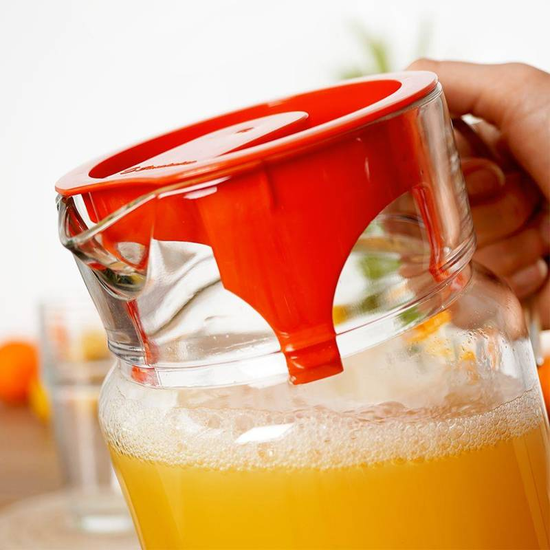 Dzbanek szklany do wody kompotu napojów lemoniady z uchwytem i pokrywką 1,75L