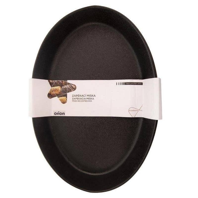 Forma brytfanna porcelanowa czarna do zapiekania żaroodporna 37x25 cm półmisek talerz