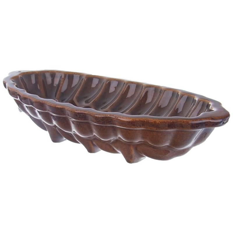 Forma do pieczenia chałki, na chałkę, ceramiczna, glazurowana