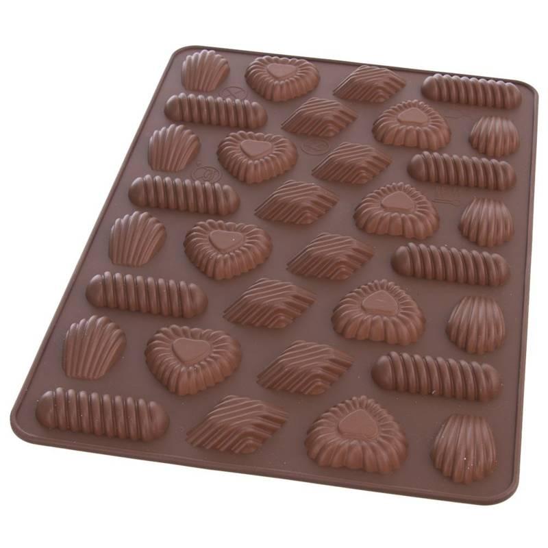 Forma do pieczenia ciastek, pralin, ciasteczek, na praliny, silikonowa