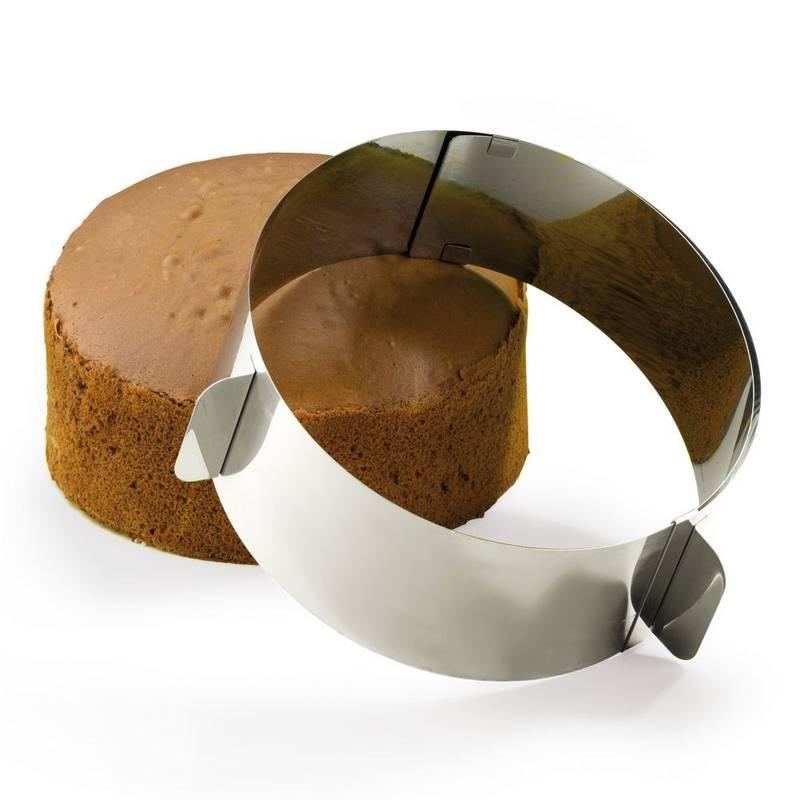 Forma obręcz do ciasta regulowana okrągła opaska