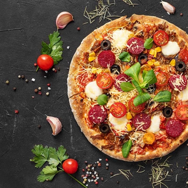 Kamień do pieczenia pizzy forma stojak nóż ORION