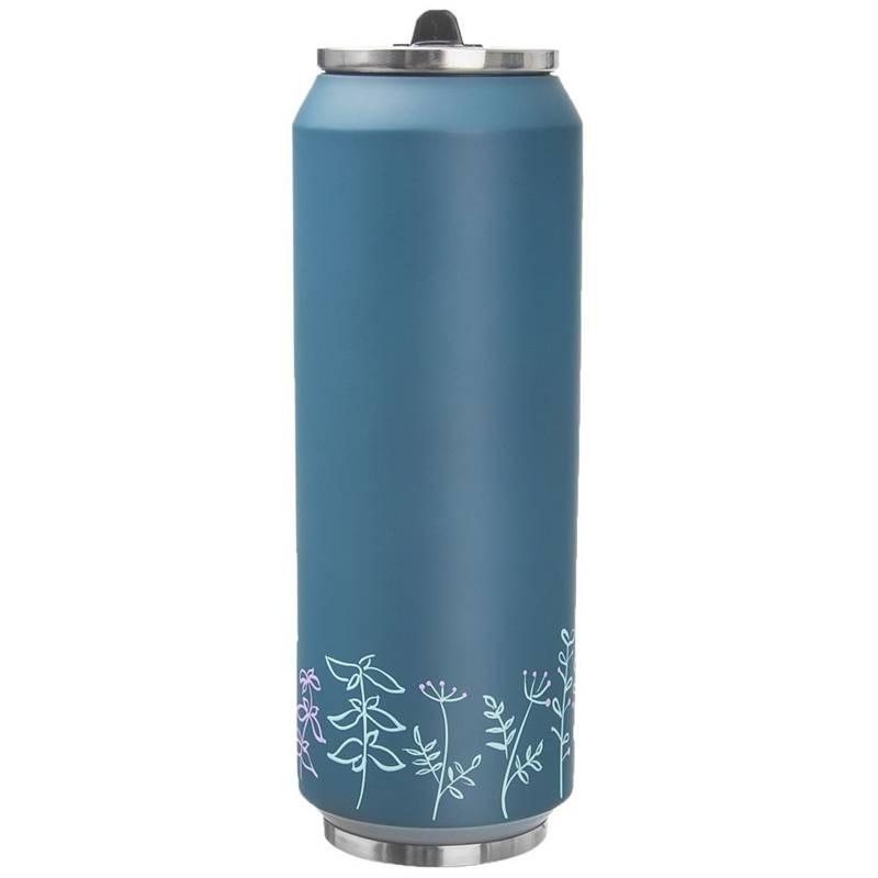 Kubek termiczny, termos, bidon, PUSZKA, LOUKA, niebieski 0,7L