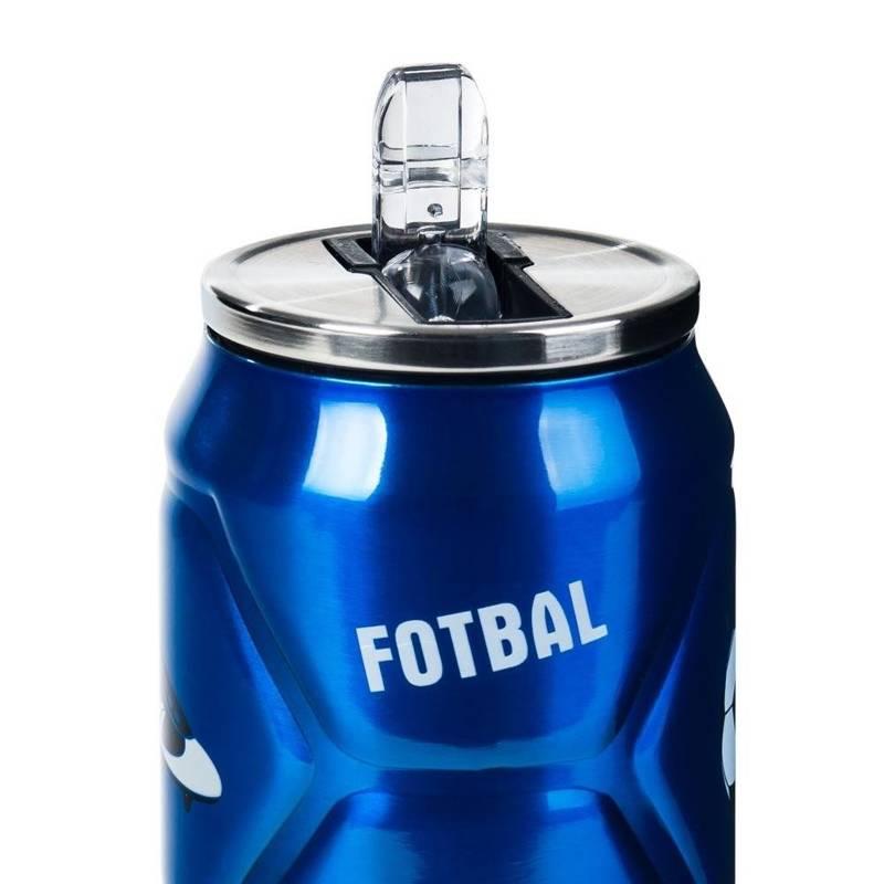 Kubek termiczny, termos, puszka, piłka, niebieski, 0,5 l