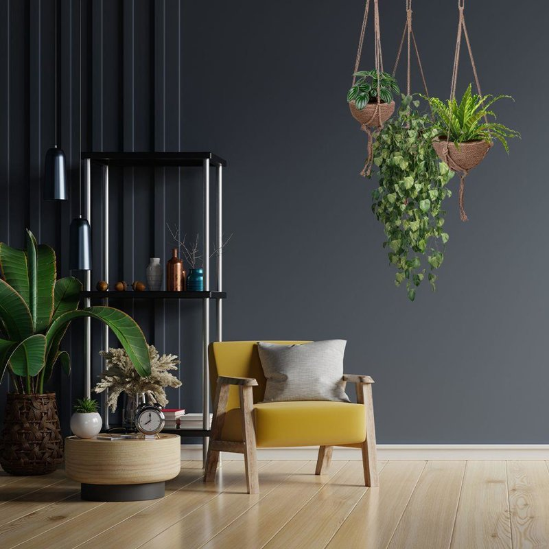 Kwietnik wiszący pleciony, osłonka na doniczkę, doniczka, na roślinę, kwiat, boho, 21 cm