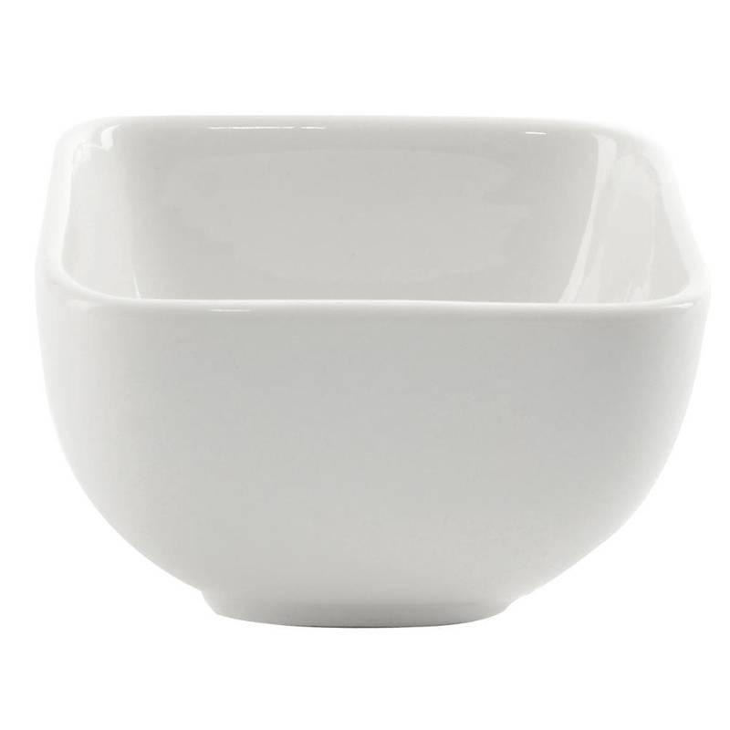 Miseczka salaterka porcelanowa kwadratowa 8x8 cm