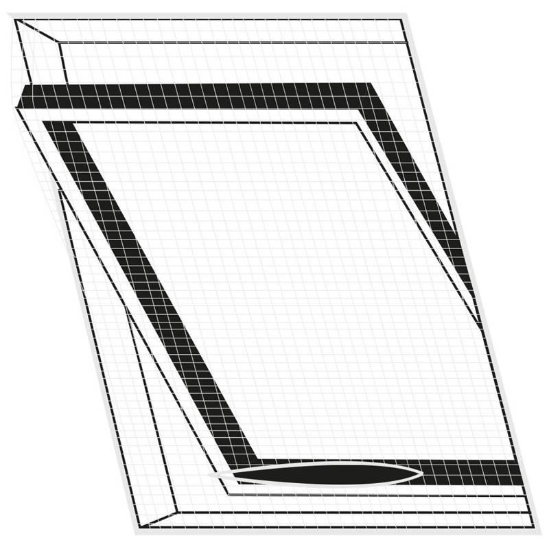 Moskitiera, siatka na okno dachowe, owady, komary, 120x140 cm, biała