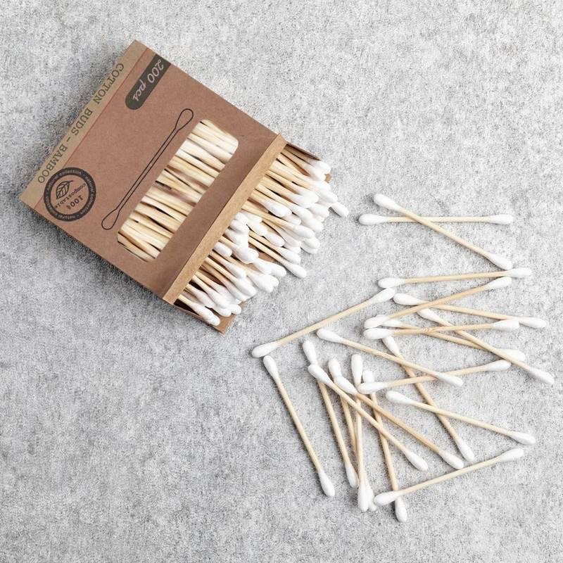 Patyczki bambusowe do uszu, kosmetyczne, higieniczne, ekologiczne, 200 sztuk