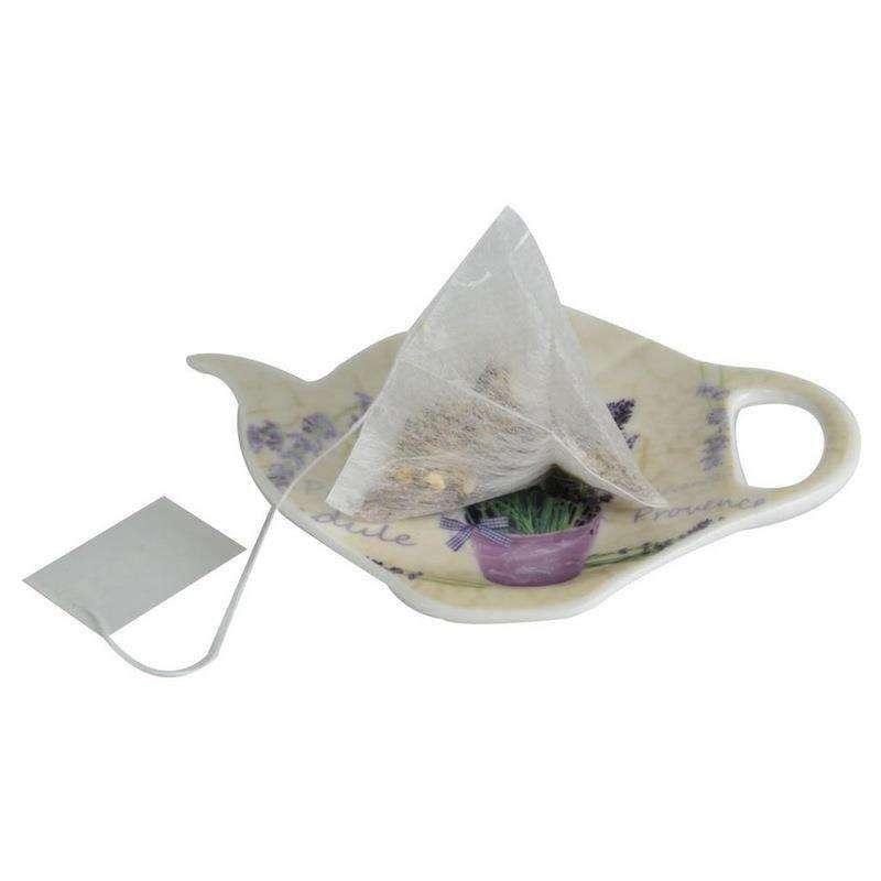 Podstawka porcelanowa na herbatę LAWENDA pod torebkę herbaty