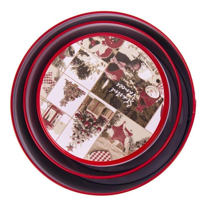 Pojemnik / puszka / pudełko RETRO święta 14 cm