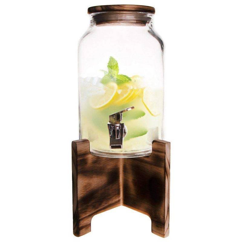 Słój / słoik z kranikiem do napojów 4,2L + stojak