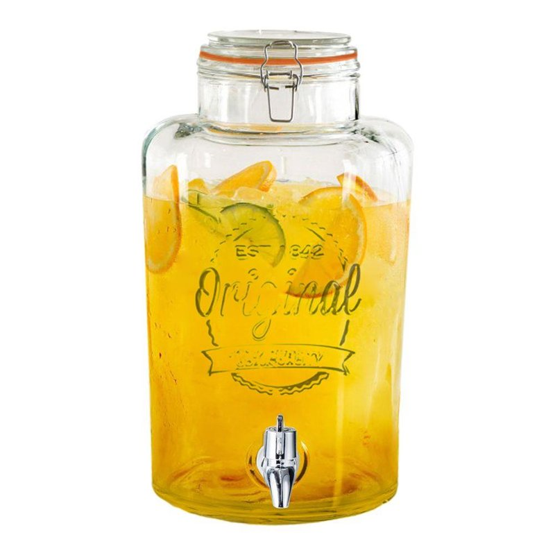 Słój / słoik z kranikiem do napojów lemoniady 8L