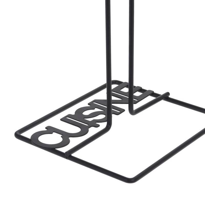 Stojak na ręczniki papierowe METALOWY CZARNY uchwyt na ręcznik papierowy