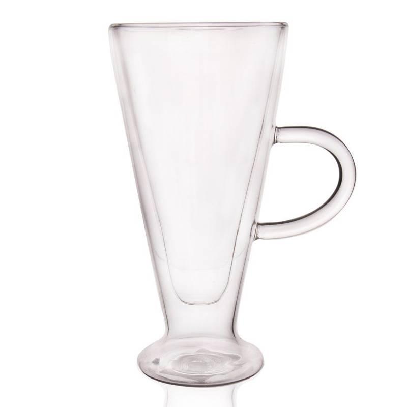 Szklanka termiczna z podwójną ścianką 0,27L uchwyt